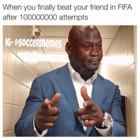 That feeling 😪😓😌 (tag your mates): When you finally beat your friend in FFA  after 100000000 attempts  NG- esocceRmemes That feeling 😪😓😌 (tag your mates)