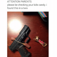 Bruh, Candy, and Daquan: @daquan  ATTENTION PARENTS:  please be checking your kids candy. i found this in a twix Bruh😂