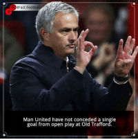 Did you know that? Follow @football_tab for the best football jokes 👥⚽️: 8Fact Footba  Man United have not conceded a single  goal from open play at Old Trafford. Did you know that? Follow @football_tab for the best football jokes 👥⚽️
