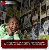 Did you know that?: 8Fact Football  Kylian Mbappe is the biggest Cristiano Ronaldo  fan and he wants to emulate the Real Madrid star. Did you know that?