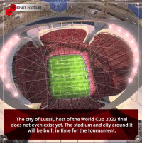 Thoughts ??💭🤔 Stadium looks beautiful 🤤😍⚽️🏆 • • england russia kante worldcup worldcup2018 wordcup2022 qatar football city beauty belgium brazil trophy tottenham italy neymar netherlands croatia cristianoronaldo zlatanibrahimovic: 8Fact Football  The city of Lusail, host of the World Cup 2022 final  does not even exist yet. The stadium and city around it  will be built in time for the tournament. Thoughts ??💭🤔 Stadium looks beautiful 🤤😍⚽️🏆 • • england russia kante worldcup worldcup2018 wordcup2022 qatar football city beauty belgium brazil trophy tottenham italy neymar netherlands croatia cristianoronaldo zlatanibrahimovic