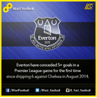 Did you know that...  Join our backup page 8Football: 8fact Football  Utrn  Everton  1878  IS Nisi  Everton have conceded 5+ goals in a  Premier League game for the first time  since shipping 6 against Chelsea in August 2014.  OO  8fact football 8 fact football Did you know that...  Join our backup page 8Football