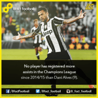 Facts, Memes, and Champions League: 8fact Football  veep  No player has registered more  assists in the Champions League  since 2014/15 than Dani Alves (9).  8factFootball  8fact football  8 fact football Did you know that...  Join our backup page 8Football