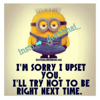 Best friends will say things that may be hard to digest but they will say it for your good bcoz they care for you 👍✌-On other hand there will be people saying fake things just to comfort you with a lie..!!- ➡ TAG your Real Friends 💞-Sach kadwa hota hai par ache ke liye hota hai 😜: QUOTES  DESPICABLEMEMINIONS.ORG  I'M SORRy I UPSET  yoU.  ILL TRy NOT TO BE  RIGHT NEXT TIME. Best friends will say things that may be hard to digest but they will say it for your good bcoz they care for you 👍✌-On other hand there will be people saying fake things just to comfort you with a lie..!!- ➡ TAG your Real Friends 💞-Sach kadwa hota hai par ache ke liye hota hai 😜