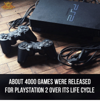 Memes, Cycling, and 🤖: 8GAMTMG  ABOUT 4000 GAMES WERE RELEASED  FOR PLAYSTATION 2 OVER ITS LIFE CYCLE