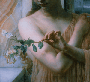 twirld: Psyche in the Temple of Love (detail, 1882) Edward John Poynter: 8P2 twirld: Psyche in the Temple of Love (detail, 1882) Edward John Poynter