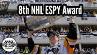 For the 8th time in his career, Sidney Crosby has won the best NHL player ESPY Award. Crosby was one of two Canadians to win awards on the night. Olympic snowboarder Mark McMorris of Regina was named best male action athlete. Was Sid the right pick? Crosby was also second to Russel Westbrook for athlete of the year Crosby ESPY Penguins Pittsburgh NHLDiscussion: 8th NHL ESPY Award . For the 8th time in his career, Sidney Crosby has won the best NHL player ESPY Award. Crosby was one of two Canadians to win awards on the night. Olympic snowboarder Mark McMorris of Regina was named best male action athlete. Was Sid the right pick? Crosby was also second to Russel Westbrook for athlete of the year Crosby ESPY Penguins Pittsburgh NHLDiscussion
