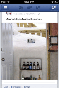Ipod, Massachusetts, and Facebook Wins: 9:09 PM  iPod  Yesterday at 12:30 PM  Meanwhile, in Massachusetts...  Like Comment Share As a Massachusettsan, this is a win