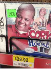 """Target, Tumblr, and Walmart: 9/13/ U9  29.2  ISNE  COR  IN THE  Z.  E ONE  NDS-CORY IN HOUSE  $29.92  NIN  Deet 55  Cae  VEN  จจ5509405  07025900  71272500454 <p><a class=""""tumblr_blog"""" href=""""http://thechamberofsecrets.tumblr.com/post/86350722781/this-cory-in-the-house-video-game-has-been-sitting"""" target=""""_blank"""">thechamberofsecrets</a>:</p> <blockquote> <p>this cory in the house video game has been sitting in walmart since 2009 and is still $29.92</p> </blockquote>"""