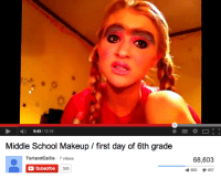 9431210 Middle School Makeup First Day