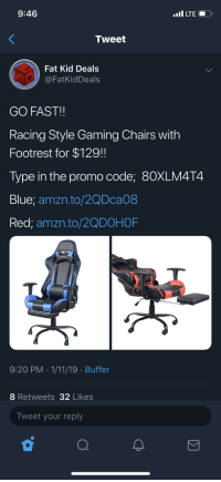Amazing 946 Lte Tweet Fat Kid Deals Go Fast Racing Style Gaming Gamerscity Chair Design For Home Gamerscityorg