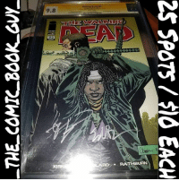 2x Sig Raffle Pick your spots. 25 spots $10 each. . Winner gets this beautiful copy of: The Walking Dead 92 (First Appearance of Jesus) CGC SS 9.8 signed 2x by both Robert Kirkman and Ed Brubaker . Please do not send funds until PayPal address is provided. Shipping is FREE to the US, International pays the difference. Snake eyes rolls again. 1. 2. 3. 4. 5. 6. 7. 8.geeksandkicks 9.nippsmcgee💸 10.nippsmcgee💸 11.fishnuts87 12.daleyplanet52 13.tora00874 14. 15. 16. 17.mvtxntboy 18.tora00874 19.cougartrace 20.cougartrace 21. 22. 23.daleyplanet52 24. 25. Good luck! comic comics comicbook comicbooks igcomic igcomicfamily newigcomicfamily forsale image imagecomics twd thewalkingdead amc walkingdead kirkman cgc cgcomic cgcjunkie firstappearance jesus 1stappearance signedcomic signedcomics robertkirkman raffle raffles comicraffle comicraffles walkingdeadcomic zombies: 9.8  92  KIRK/  RD-/. RATHBURN  25 SPOTS / $10 EACH  亏  7NTY9957rwo2_au 2x Sig Raffle Pick your spots. 25 spots $10 each. . Winner gets this beautiful copy of: The Walking Dead 92 (First Appearance of Jesus) CGC SS 9.8 signed 2x by both Robert Kirkman and Ed Brubaker . Please do not send funds until PayPal address is provided. Shipping is FREE to the US, International pays the difference. Snake eyes rolls again. 1. 2. 3. 4. 5. 6. 7. 8.geeksandkicks 9.nippsmcgee💸 10.nippsmcgee💸 11.fishnuts87 12.daleyplanet52 13.tora00874 14. 15. 16. 17.mvtxntboy 18.tora00874 19.cougartrace 20.cougartrace 21. 22. 23.daleyplanet52 24. 25. Good luck! comic comics comicbook comicbooks igcomic igcomicfamily newigcomicfamily forsale image imagecomics twd thewalkingdead amc walkingdead kirkman cgc cgcomic cgcjunkie firstappearance jesus 1stappearance signedcomic signedcomics robertkirkman raffle raffles comicraffle comicraffles walkingdeadcomic zombies