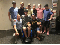 9 Broncos survivors have reunited for a trip to the NHL Awards in Vegas on Wednesday night.  #humboldtstrong #nhlawards: 9 Broncos survivors have reunited for a trip to the NHL Awards in Vegas on Wednesday night.  #humboldtstrong #nhlawards