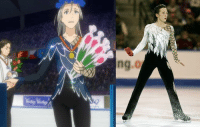 "Comfortable, Fail, and Memes: 9)  ng.o Anime: Yuri on Ice  Fun (and important) fact: Victor's costume from the flashback is inspired by and is a tribute to Johnny Weir who was a gay figure skater and a skilled performer but was often verbally harassed during his career due to his sexuality, even by broadcasters and commentators on public TV. His scores were lower than they should have been even during technically perfect programs because of homophobia in the sport (and among the judges). For YOI to pay homage to him actually says a lot how seriously the creators treat this topic.  Okay, moving on to my feelings: I loved so many things about episode 7 of this anime that I'm just gonna compile a list of bullet points because I can't possibly discuss everything (or even distinguish the most important thing) this time around:  • Realistic presentation of how success can actually put more pressure on you and praise can be suffocating  • Realistic presentation of lack of sleep due to stress  • Realistic presentation of anxiety, which is not used as a one-time joke but are a large motif in the entire episode  • Victor being absolutely terrible at calming Yuuri down because he may be really kind and a great skater but he still sort of sucks as a coach  • Victor still trying to comfort Yuuri as best as he can ""It's common for skaters to nail something they flubbed during practice! Just continue warming up, nice and easy."" (and all of other Victor's attempts, including ""Don't listen!"")  • Guang Hong's free program which features those cool, mafia movie-like frames (also the fact that Guang Hong isn't treated like a Chinese stereotype)  • Chris's coach accepting him as he is and telling him to ""go at his own pace"" even though he knows what Chris does when he skates  • Chris's backstory and 17-year-old Victor wearing a flower crown and being absolutely perfect   • Victor taking Yuuri to a place without cameras (or people at all, for that matter) when he notices that he's getting more and more nervous  • The entire fight in the parking lot because it displays Victor really messing up (which shows that he's not perfect) but also Yuuri telling him what he expects and needs of him, which is proper communication and it helps both of them in the end (I could write an essay just on this tbh, I think this might just be the most important thing)  • Phichit being amazing and winning in the end as the first big Thai skater because you can tell how much he cares about his programs and also it's important that a character from an unlikely country wins something big, showing that if you really love something and work towards it, it doesn't matter if there are barely any opportunities (ice rinks, in this case) where you live  • Showing that crying isn't a bad or shameful thing and isn't a sign of weakness and can help in stressful situations.  • Georgi. Just Georgi. (Also the fact that Anya is a strong female character even if she's not relevant to the main story at all, but can decide what she wants and doesn't stay in a relationship with a man with whom she's not happy. I mean, poor Georgi, but go Anya!)  • Yurio forgetting to watch Georgi's program (I chuckled)  • The entire Yuri on Ice program  • THE QUAD FLIP  • And then, of course, the kiss, which I already discussed in a previous post.  And really, I could say even MORE. I just really really loved episode 7. This anime never fails to amaze me and I'm loving every second of it. (Even the sometimes poor animation. I really don't mind when everything else is so good).  I hope you still enjoy reading my really biased posts and will share your own opinions in the comments! ^^ (Also if you want my opinion on something specific, feel free to ask!)  Admin Urushihara --- Vote for Yuri on Ice: https://goo.gl/VVPEil Character Polls: https://goo.gl/6Ivduk (Vote for Victor/Yuuri) Soundtrack Polls: https://goo.gl/ITwd3G"