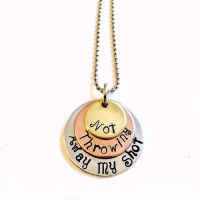 We're obsessed with these necklaces from Theatre Nerds! Everyday we wear ours as a reminder to not throw away our shot. Want one too? Check out the link in our bio! DM @theatre.nerds with any questions.: 9,  roV\  on  ny We're obsessed with these necklaces from Theatre Nerds! Everyday we wear ours as a reminder to not throw away our shot. Want one too? Check out the link in our bio! DM @theatre.nerds with any questions.