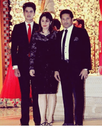 Memes, Wife, and Sachin Tendulkar: 9) Sachin Tendulkar with his wife Anjali and son Arjun at Mukesh Ambani's party.