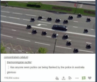 flank: concentrated catalyst  the morningstar lucifer:  Has anyone seen putins car being flanked by the police in australia  glorious  110,054 notes
