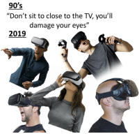 "Memes, Http, and 90's: 90's  ""Don't sit to close to the TV, you'll  damage your eyes""  )l  2019  IVE ""millennial"" is evolving via /r/memes http://bit.ly/2X03UM6"