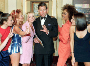 90sclubkid:Spice Girls and Prince Charles, 1997: 90sclubkid:Spice Girls and Prince Charles, 1997