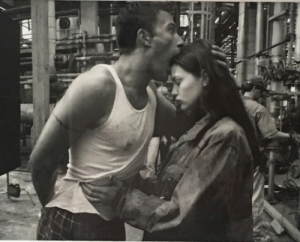 Tumblr, Ben Affleck, and Blog: 90sgeller:  on set photo of ben affleck and liv tyler on the set of 'armageddon', 1998