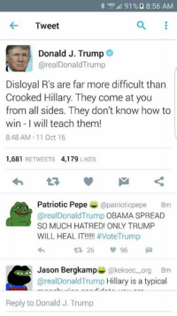 thumb_91 8 56 am tweet donald j trump areal donald trump 4815984 25 best patriotic pepe memes pepee memes, coming at you memes