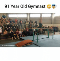 """Grandma, Memes, and Videos: 91 Year Old Gymnast  IGIOCRAZYGOODWOICES.1 COMMENT """"GRANDMA"""" LETTER BY LETTER 🔥 Follow us for more amazing videos @crazygoodvoices.1 crazygoodvoices 💞"""