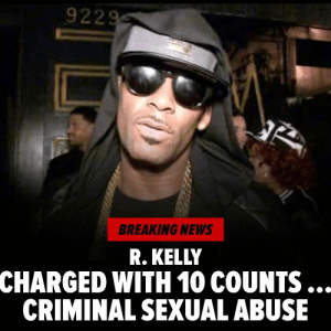 R. Kelly has been charged with 10 counts of aggravated criminal sexual abuse by the Cook County State's Attorney. Prosecutors hit him with 10 counts of aggravated criminal sexual abuse on Friday morning. 9 of the 10 counts involve alleged victims ranging in age from 13-16 years old. Head to TMZ for more. tmz rkelly: 9229  BREAKING NEWS  R. KELLY  CHARGED WITH 10 COUNTS  CRIMINAL SEXUAL ABUSE R. Kelly has been charged with 10 counts of aggravated criminal sexual abuse by the Cook County State's Attorney. Prosecutors hit him with 10 counts of aggravated criminal sexual abuse on Friday morning. 9 of the 10 counts involve alleged victims ranging in age from 13-16 years old. Head to TMZ for more. tmz rkelly
