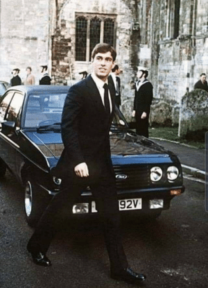 Prince Andrew with a 15 year old Escort.: 92V Prince Andrew with a 15 year old Escort.