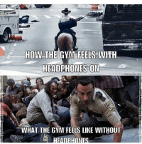 😂😂 . @doyoueven 👈🏼 NEW RELEASE (use DYE10 to save 10% OFF): 93210  HOW THE GYM FEELS WITH  HEADPHONES ON  mematic net  WHAT THE GYM FEELS LIKE WITHOUT  HEADPHONES 😂😂 . @doyoueven 👈🏼 NEW RELEASE (use DYE10 to save 10% OFF)