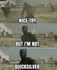 Ouch!  -Crossbones: NICE TRY  BUT I'M NOT  MEME MADE BY THE FB PG DCIMARVEL COMICS/MOVIES  QUICKSILVER Ouch!  -Crossbones