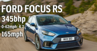 America, Cars, and Crazy: FORD FOCUS RS  345bhp  0-62mph: 4.71  165mph  MHV 180 Is this the performance bargain of the year? £30k in the UK, $36k in America. Crazy performance for the money!