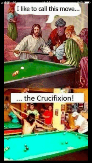 I like Jesus's stick it looks cool: 94%  l EE 4G  14.94  I like to call this move...  ... the Crucifixion!  ండ I like Jesus's stick it looks cool