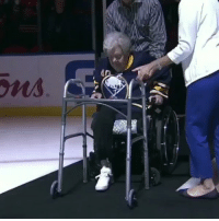 94 year old Marian Morreale, WWII Coast Guard Veteran with an amputated leg stands for the National Anthem at Sabres game. https://t.co/wVtApJ8ofx: 94 year old Marian Morreale, WWII Coast Guard Veteran with an amputated leg stands for the National Anthem at Sabres game. https://t.co/wVtApJ8ofx