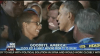 Ahmed Mohamed, America, and Clock: FOX  NES HEADI  GOODBYE, AMERICA!  EW  CLOCK TO QATAR  LIVE  KID & FAMILY MOVING FROM HEADLINES HEAD  DY TO HELP WITH POLITICAL SOLUTION IN SYRIA AND WOULD WORK CLOSELY WITH 'Clock Kid' Ahmed Mohamed has announced he's leaving the country and moving to the Middle East to go to school'Clock Kid' Ahmed Mohamed has announced he's leaving the country and moving to the Middle East to go to school