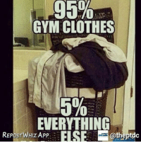 When you're addicted 😂😩 . @doyoueven 👈🏼 for all your active wear needs!: 95%  GYM CLOTHES  5%  EVERYTHING  REPE s TWHIZAW ELSE @thestac  @theptdc  REPbsrWHIZ APP. : When you're addicted 😂😩 . @doyoueven 👈🏼 for all your active wear needs!