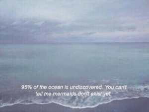 Mermaids: 95% of the ocean is undiscovered. You can't  tell me mermaids don't exist yet