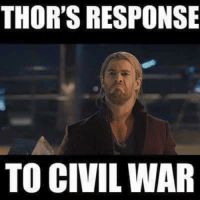 THOR'S RESPONSE  TO CIVIL WAR ~Deadpool