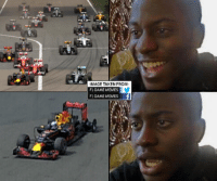 The thoughts of all Ricciardo fans before and after Lap 2... #SheepoF1GM: MAGE TAKEN FROM  F1 GAME MEMES  F1 GAME MEMES The thoughts of all Ricciardo fans before and after Lap 2... #SheepoF1GM