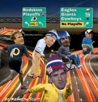 Believe it or not... Like Our Page NFL Memes Credit - Kenneth Scott: Redskins  Playoffs 95  ONLY  ONFLMemes4You-  BY KENNETH SCOTT  Eagles  Giants  ny  Cowboys  No Playoffs Believe it or not... Like Our Page NFL Memes Credit - Kenneth Scott