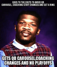 Bad luck Andre Johnson... Like Our Page NFL Memes Credit - Nick Fuentes: GOES TO THE COLTS TO AVOID OB  CAROUSEL, COACHING STAFF CHANGES AND GET A RING  CONFLMémés24You  GETS QB CAROUSELCOACHING  CHANGES AND NO PLAYOFFS Bad luck Andre Johnson... Like Our Page NFL Memes Credit - Nick Fuentes