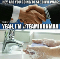 Boo. -Iron Man: HEY, ARE YOUGOING TO SEE CIVIL WAR?  IG: marvel memes  YEAH, IM Boo. -Iron Man