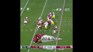 Still can't believe these OT plays that took the @azcardinals to the 2015-16 NFC Championship. 😱 #NFL100 @nflthrowback  Happy Birthday, @LarryFitzgerald! 🎉 https://t.co/tqRjJ3NmMJ: 96  1ST&10  GB 20  AZ 20 OT 14:59 :40  1st & 10 Still can't believe these OT plays that took the @azcardinals to the 2015-16 NFC Championship. 😱 #NFL100 @nflthrowback  Happy Birthday, @LarryFitzgerald! 🎉 https://t.co/tqRjJ3NmMJ