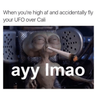 When you're high af and accidentally fly  your UFO over Cali  ayy lmao What really happened