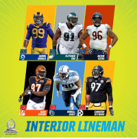 Memes, Orlando, and Pro: 96  AARON  DONALD  FLETCHER  COX  AKIEM  HICKS  97  JURRELL  CAMERON  HEYWARD  ATKINSE  INTERIOR LINEMAN  PRO BOWL  ORLANDO 2019 2019 #ProBowl Defensive Linemen! https://t.co/A7uNVak8T9