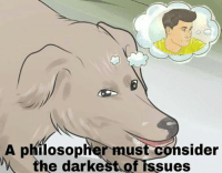 WikiHow Image.: A philosopher must consider  the darkest of issues WikiHow Image.