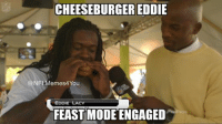 CHEESEBURGER EDDIE  NFLMemes4 You  EDDIE LACY  FEAST MODE ENGAGED Look at this guys... Like Our Page NFL Memes