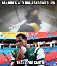 RAY RICESWIFE HAS ASTRONGER JAW  IMT  SPORTS  ONFL MEMES  THAN GENO SMITH That awkward moment when you realize… Credit: Black Adam Schefter
