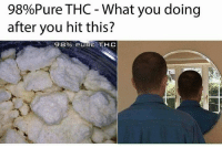 Memes, What You Doing, and 🤖: 98%Pure THC-What you doing  after you hit this?  98% PURE, THC