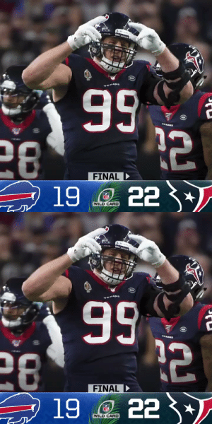 FINAL: The @HoustonTexans' second-half surge sends them to the Divisional Round! #NFLPlayoffs #WeAreTexans  (by @Lexus) https://t.co/TWyrdDpZaw: 99  28  19 e 22 3  76XANS  FINAL  FINAL D  NFL  WILD CARD   RCH  99  28  19 e 22 *  TEXANS  FINAL  FINAL D  NFL  WILD CARD FINAL: The @HoustonTexans' second-half surge sends them to the Divisional Round! #NFLPlayoffs #WeAreTexans  (by @Lexus) https://t.co/TWyrdDpZaw