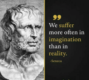 I made this my phone lockscreen wallpaper to always remember, eases so much tension during the day: 99  We suffer  more often in  imagination  than in  reality.  -Seneca I made this my phone lockscreen wallpaper to always remember, eases so much tension during the day